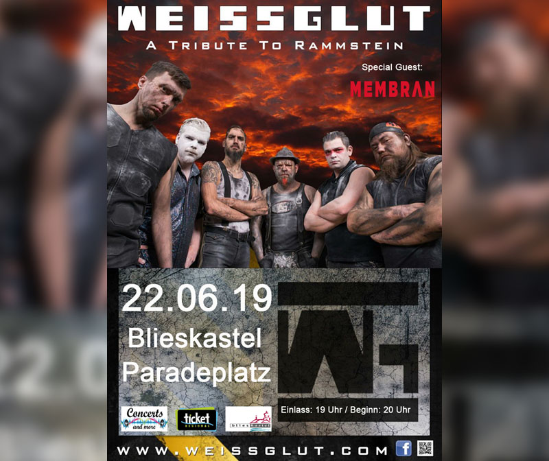 1. music nights Blieskastel - Weissglut - A Tribute to Rammstein